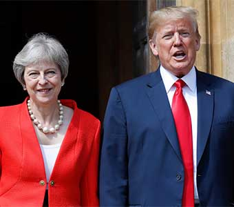 Trump And May Accused Of 'betraying Women' By Attending Dubai Conference