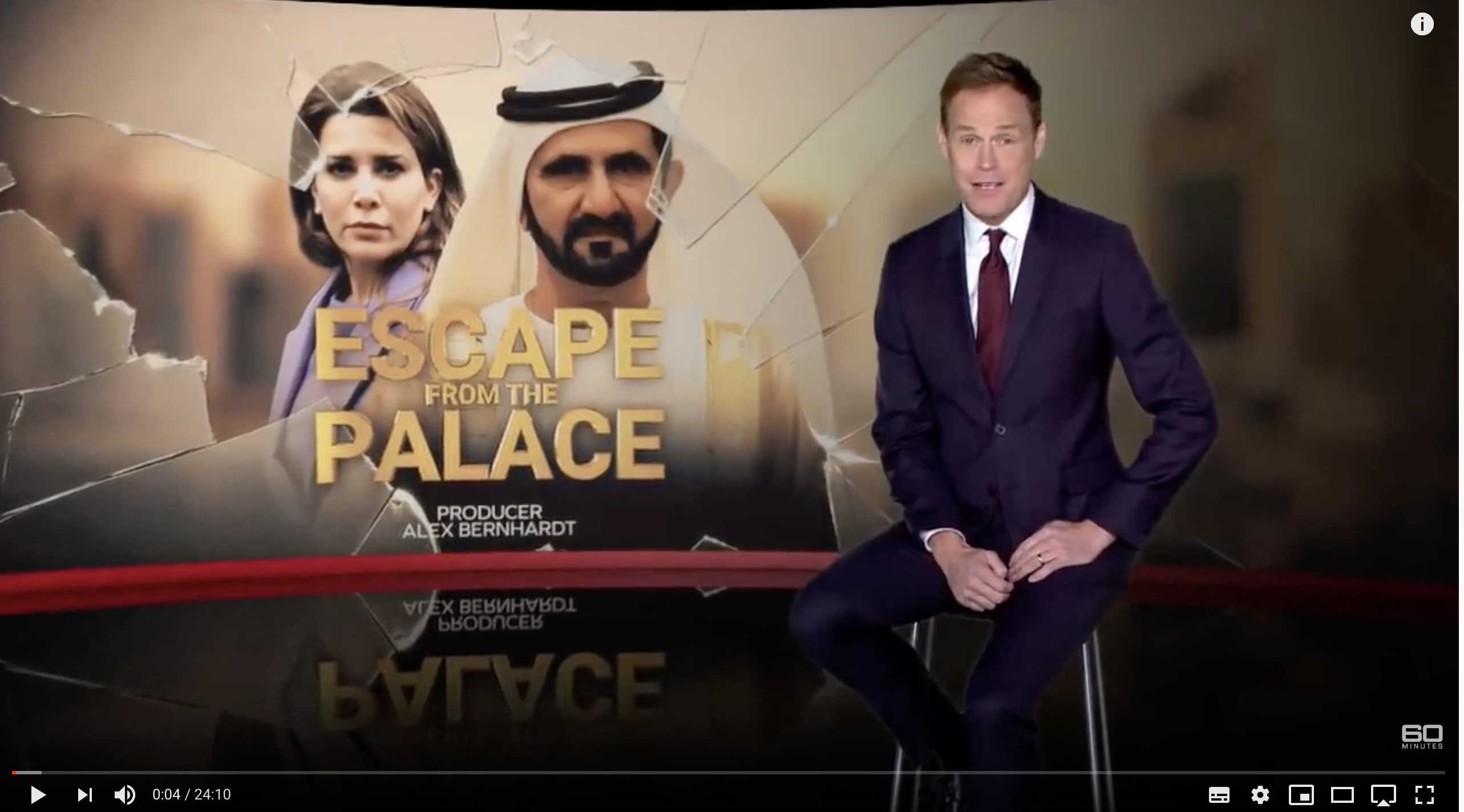 Princess Latifa's Case covered by award winning news show 60 Minutes